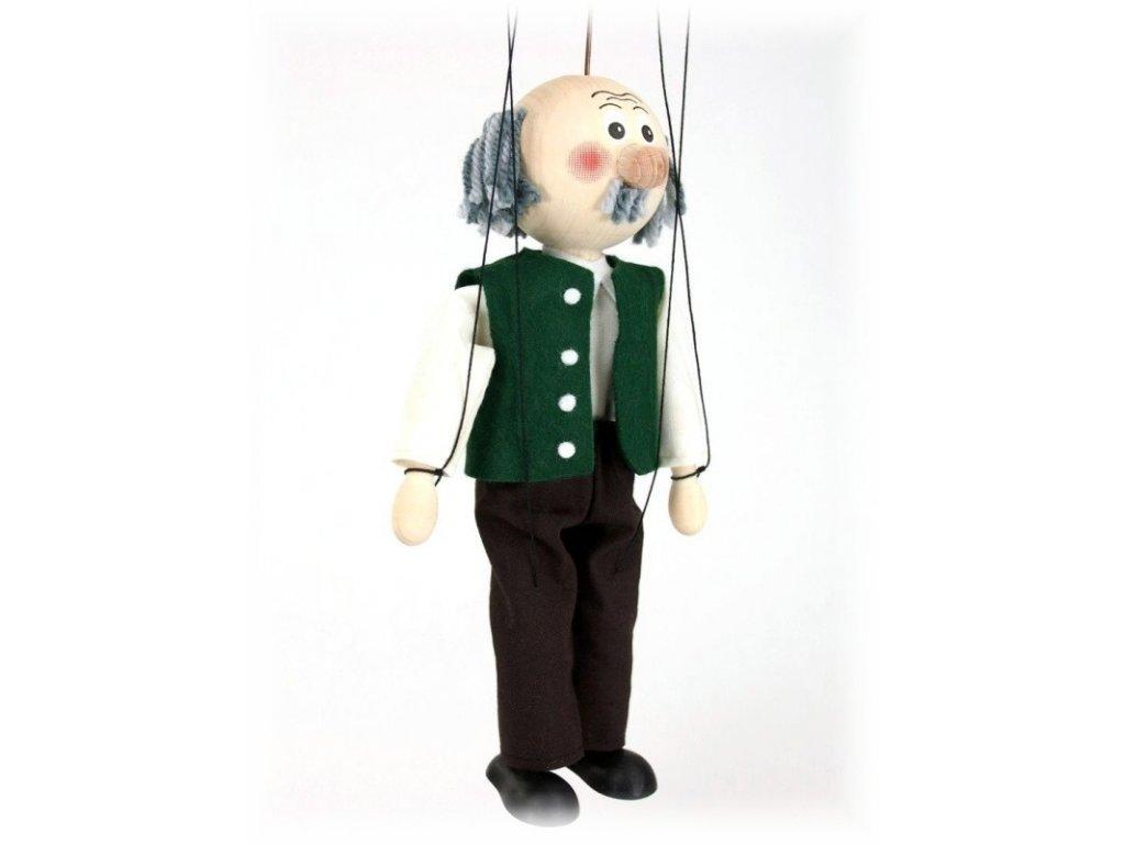 Dřevěná loutka - hračka ze dřeva - Dědeček