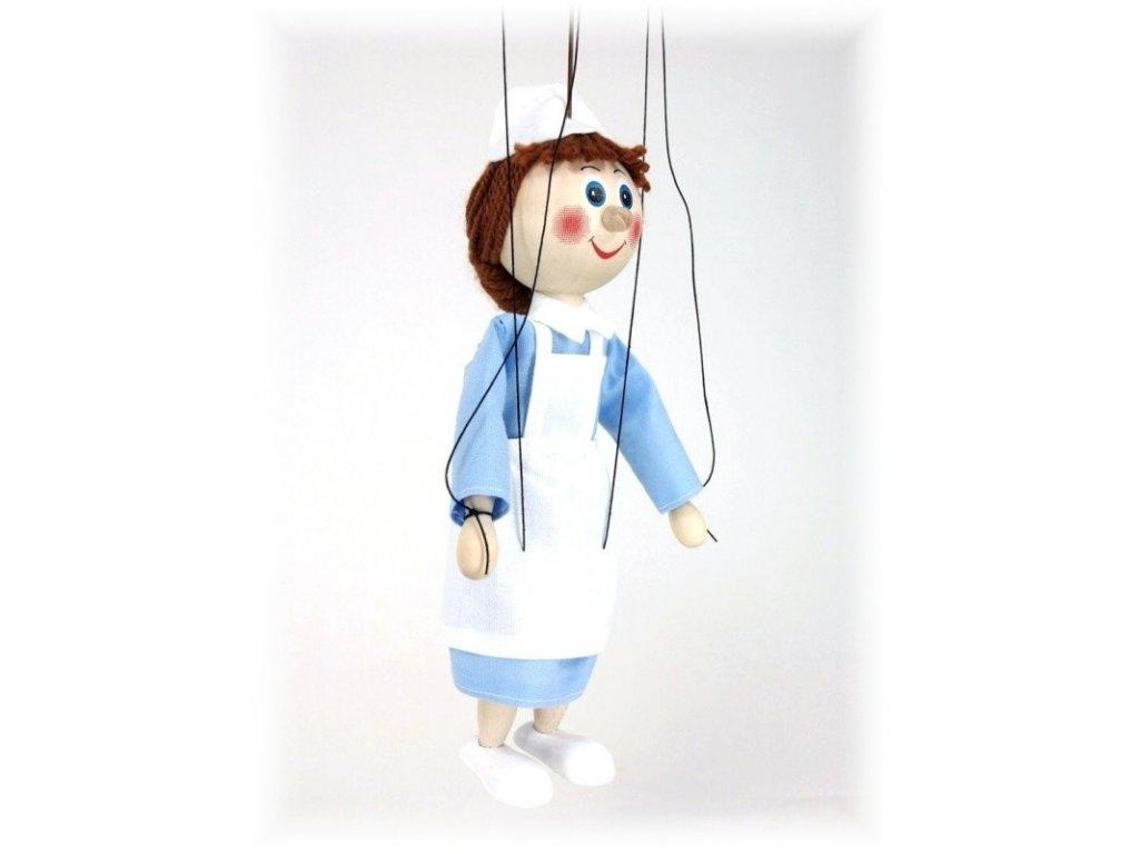 Dřevěná loutka - hračka ze dřeva - Zdravotní sestra