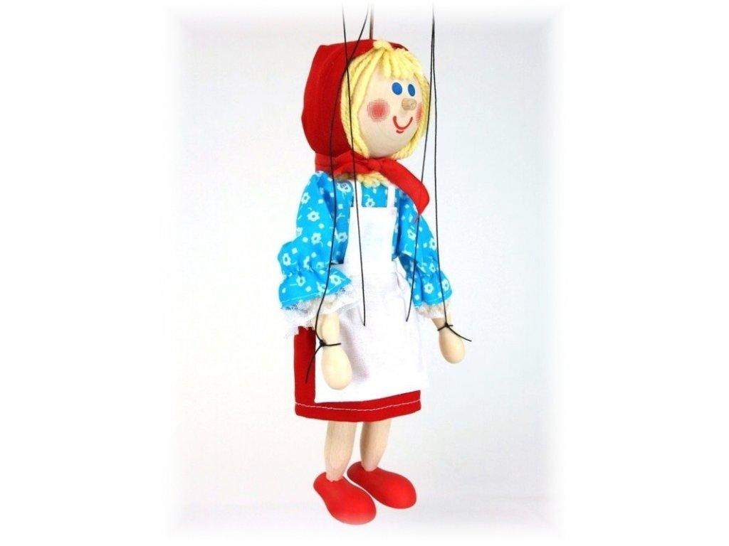 Dřevěná loutka - hračka ze dřeva - Červená Karkulka