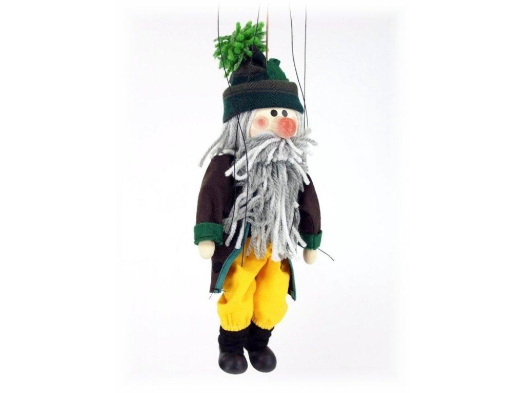 Dřevěná loutka - hračka ze dřeva - Loutka Troll