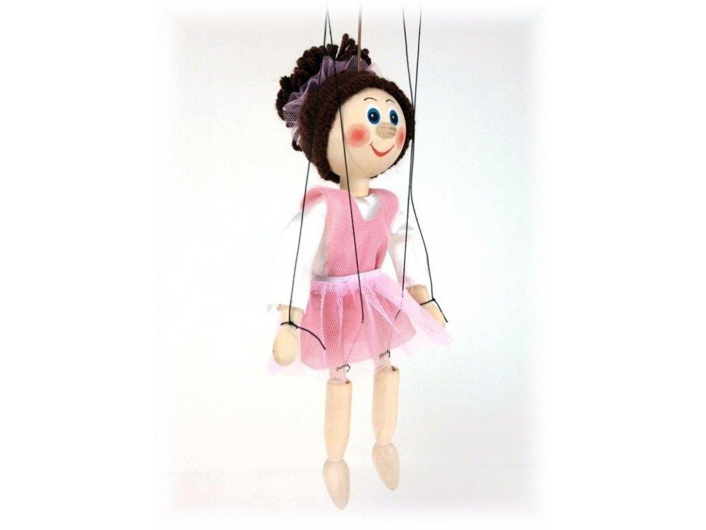 Dřevěná loutka - hračka ze dřeva - Baletka