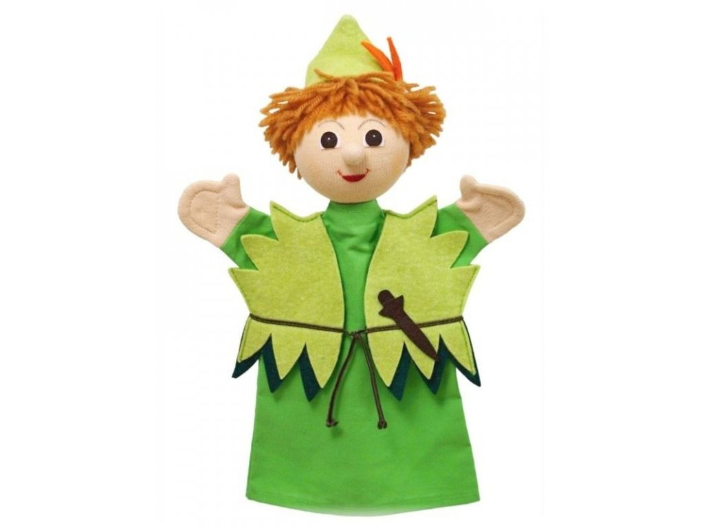 Maňásek - Peter Pan - hračka z textilu