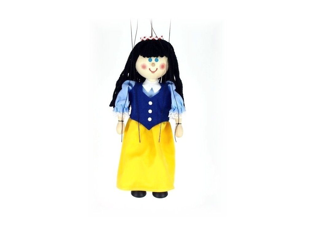 Dřevěná loutka - hračka ze dřeva - Sněhurka