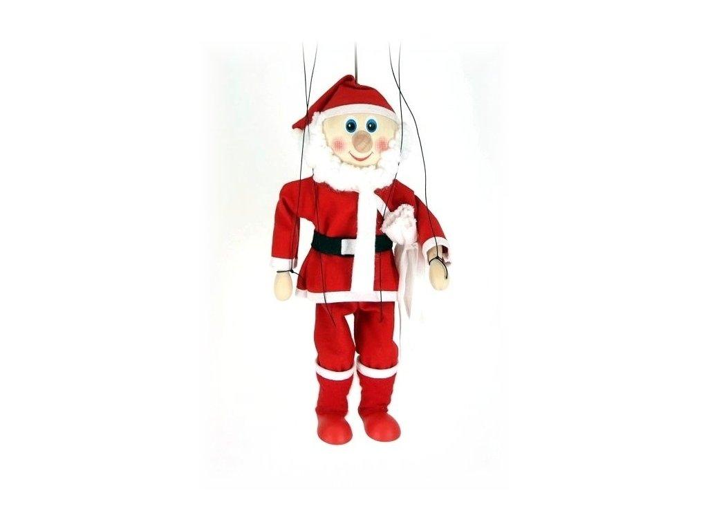 Dřevěná loutka - hračka ze dřeva - Santa Claus