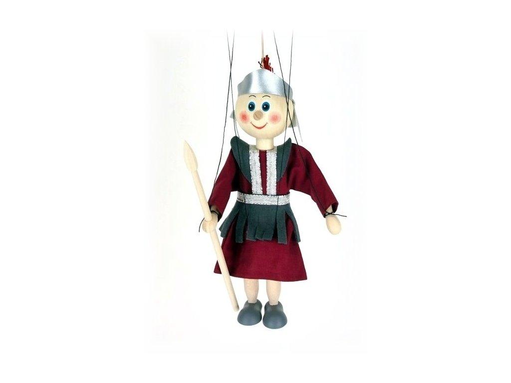 Dřevěná loutka - hračka ze dřeva - Antický rytíř