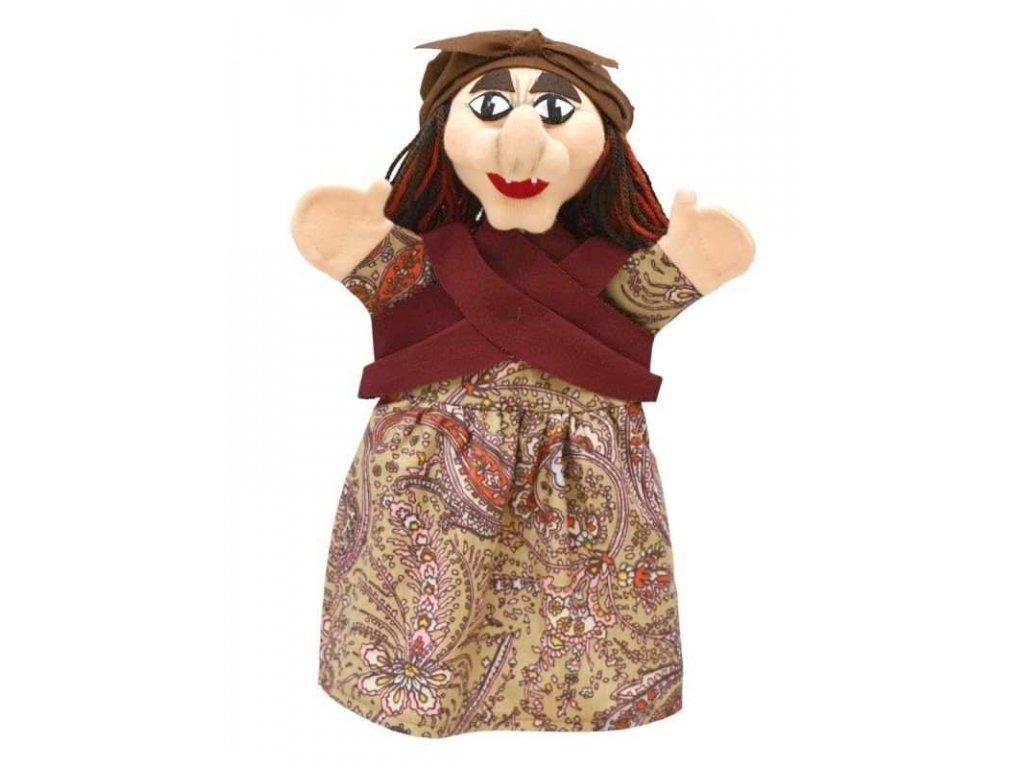 Maňásek - Ježibaba - hračka z textilu