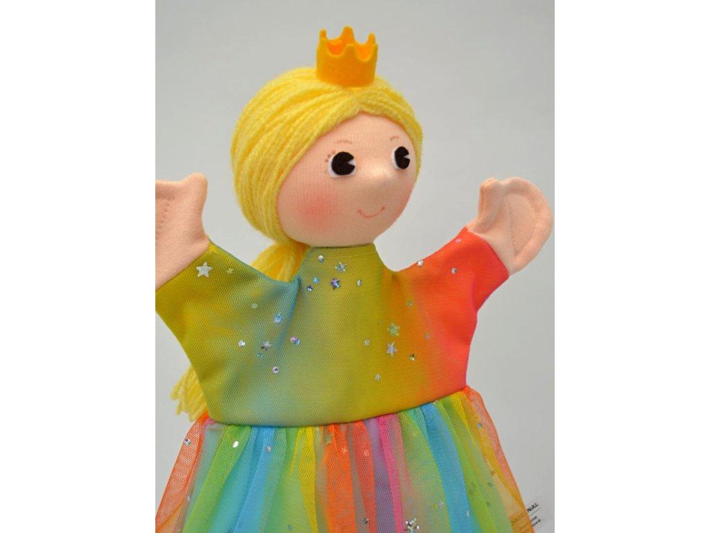 Maňásek - Princezna duhová - hračka z textilu