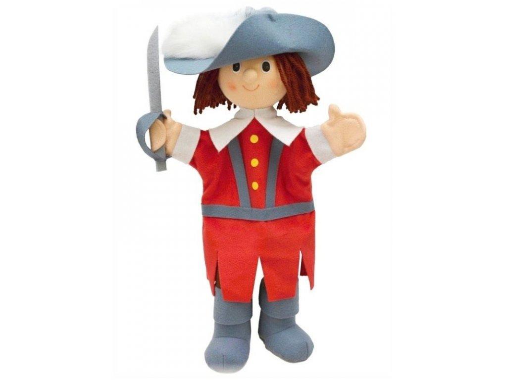 Maňásek - Mušketýr červený - hračka z textilu