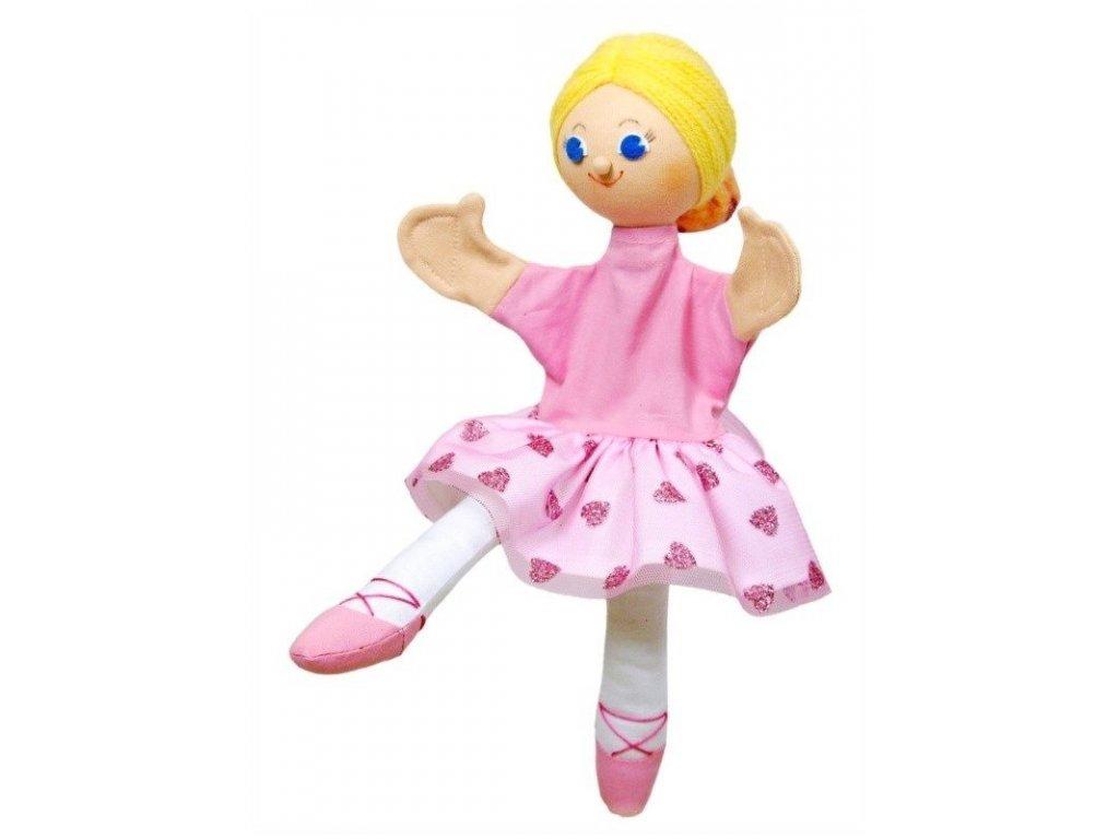 Maňásek - Baletka Sára - hračka z textilu