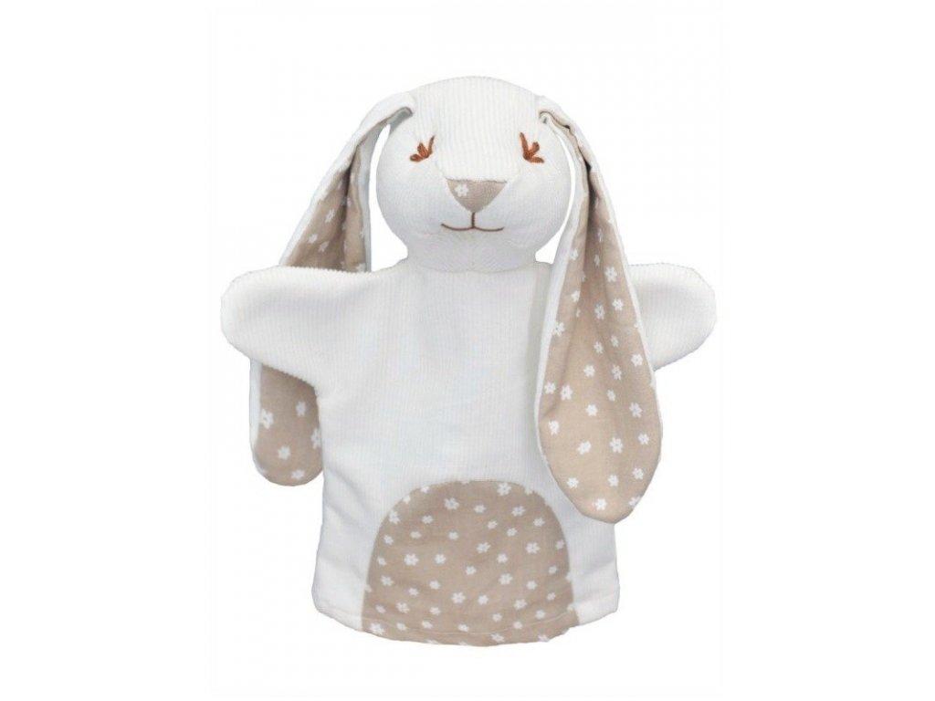 Maňásek pro nejmenší - Králík kytičky - hračka z textilu