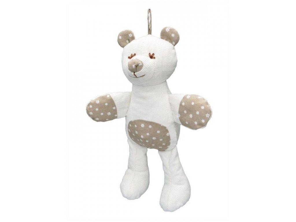 Maňásek pro nejmenší - Medvěd šustící - hračka z textilu