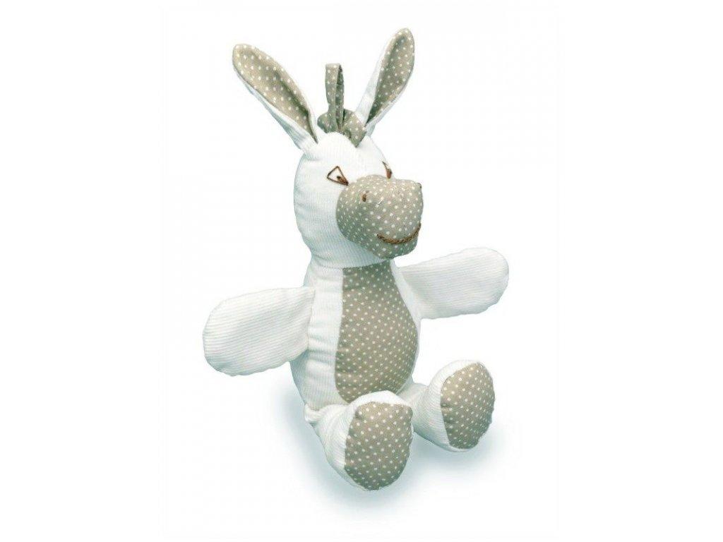 Maňásek pro nejmenší - Oslík puntík - hračka z textilu