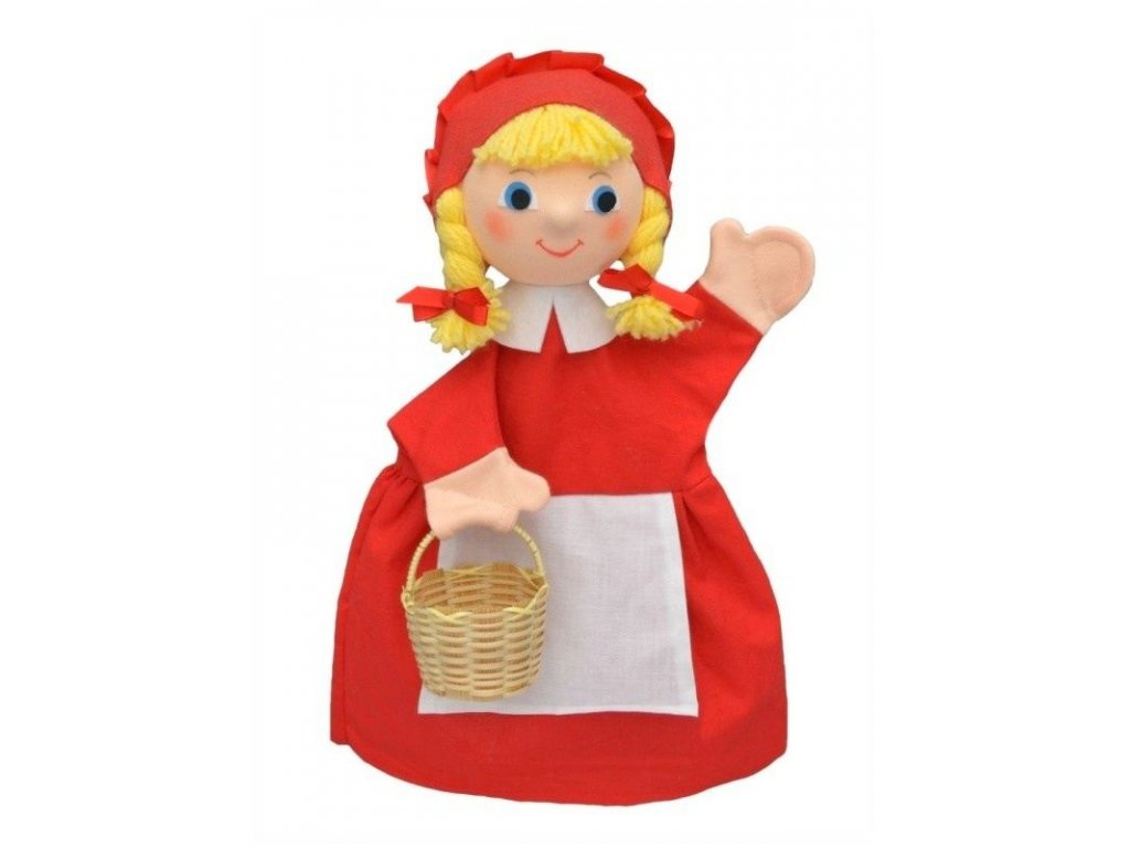 Maňásek - Karkulka s copy - hračka z textilu