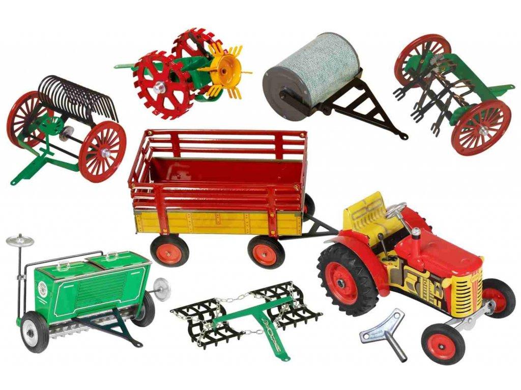 traktor a stroje na pole  pro děti