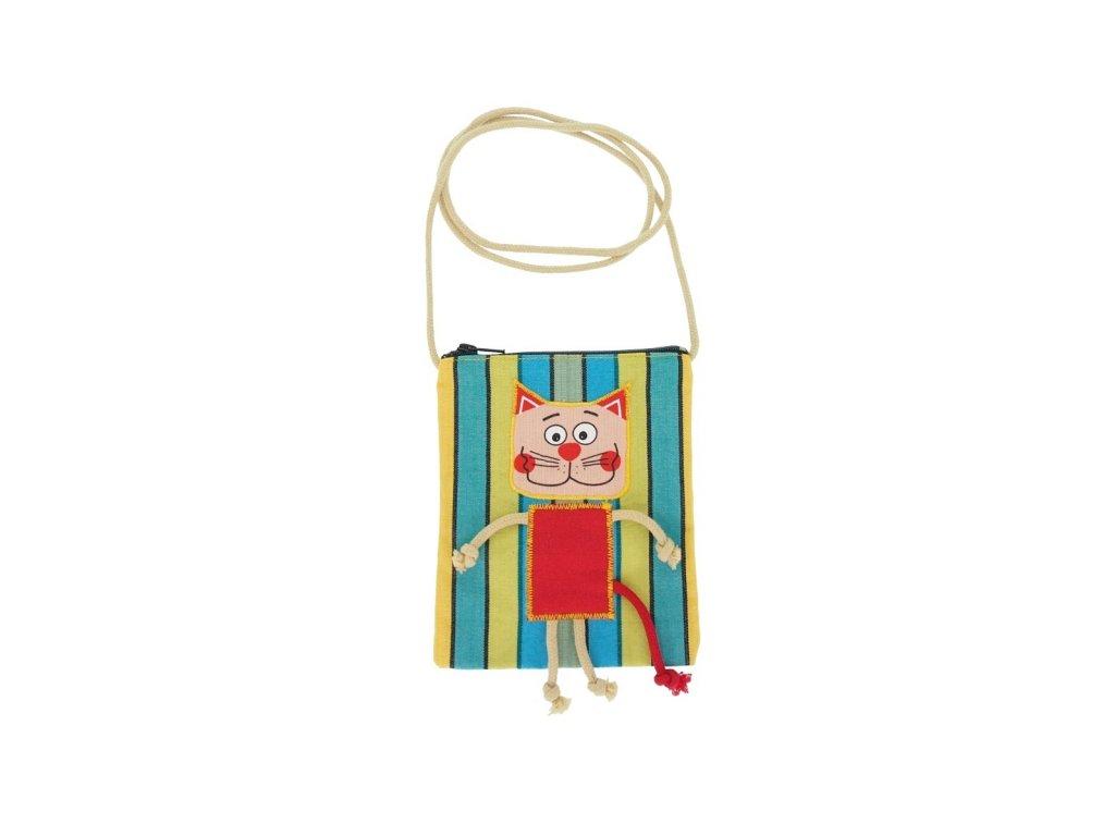 Dětská textilní taška - kočka