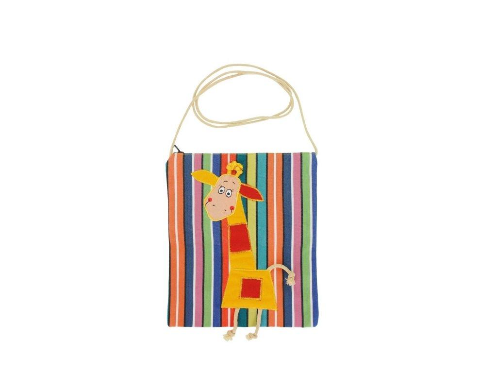 Dětská textilní taška - žirafka