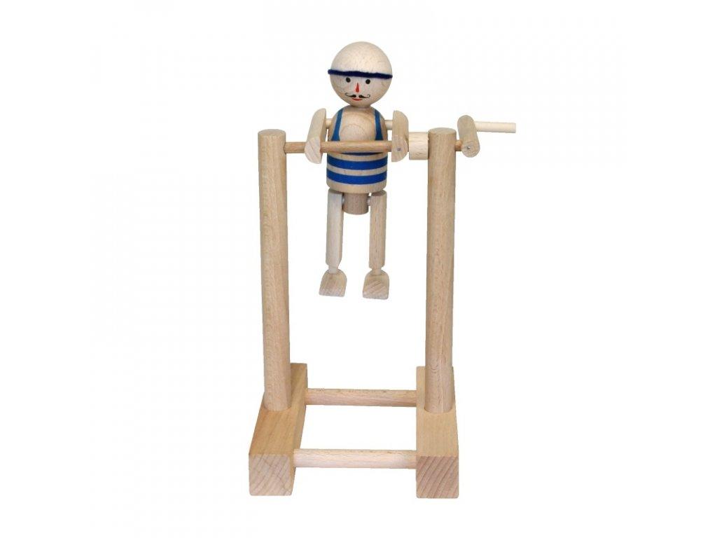 66002 kluk na hrazdě ze dřeva modrý
