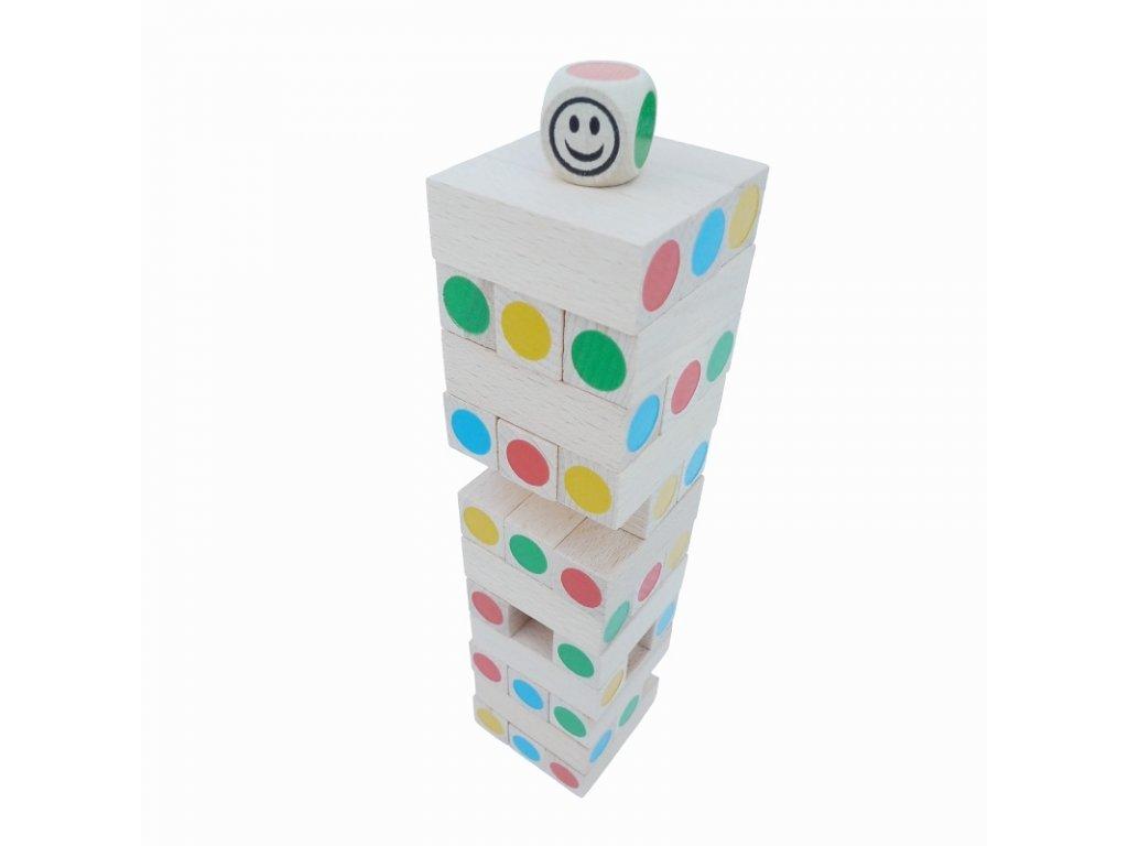 66040 dřevěná věž malá barevná (1)
