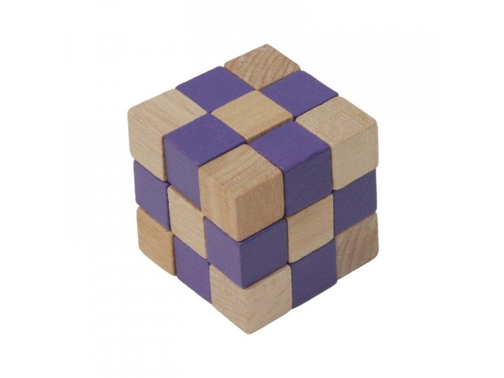 66029 dřevěný hlavolam kobra fialová