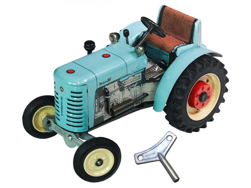 TRAKTOR ZETOR 25 - Kovová hračka certifikovaná pro děti od 3 let.