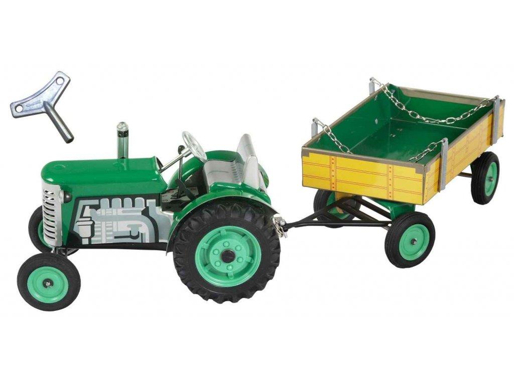 traktor natahovací na klíček hračka pro kluky