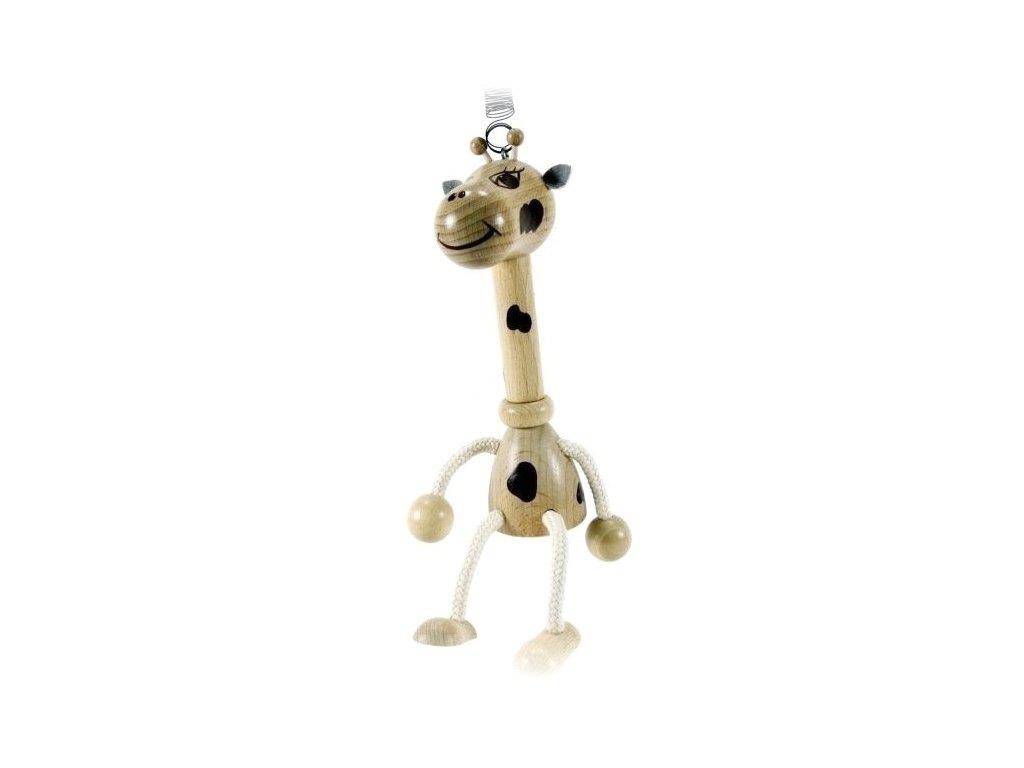 40275 (3) figurka na pruzine ze dreva zirafa pro deti