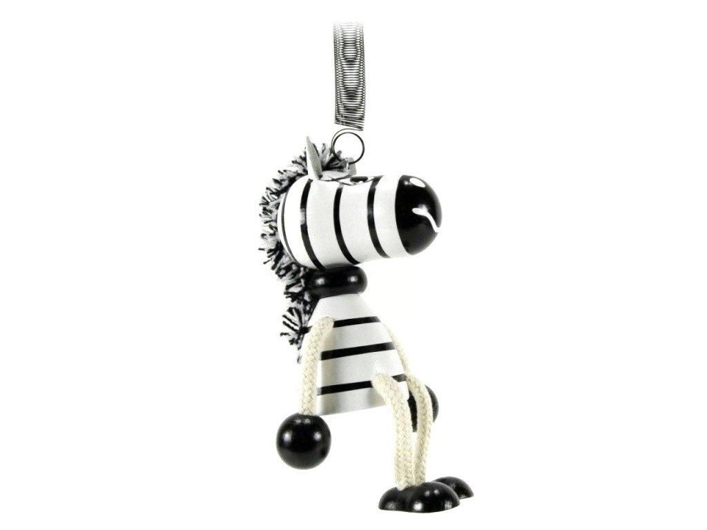 40287 (1) figurka na pruzine ze dreva zebra pro deti