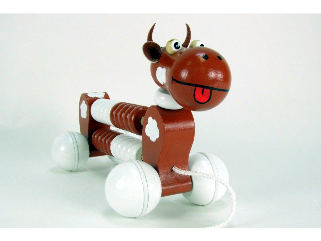 POČÍTADLO KRÁVA - tahací a didaktická dřevěná hračka
