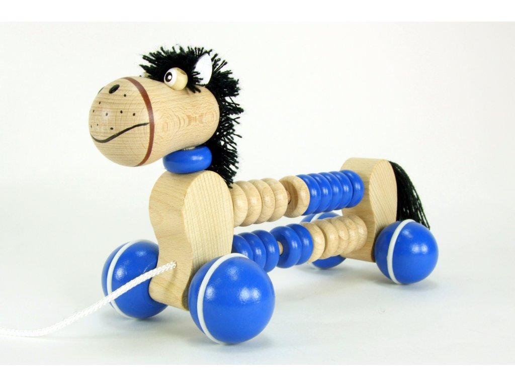 POČÍTADLO KONÍK - tahací a didaktická dřevěná hračka
