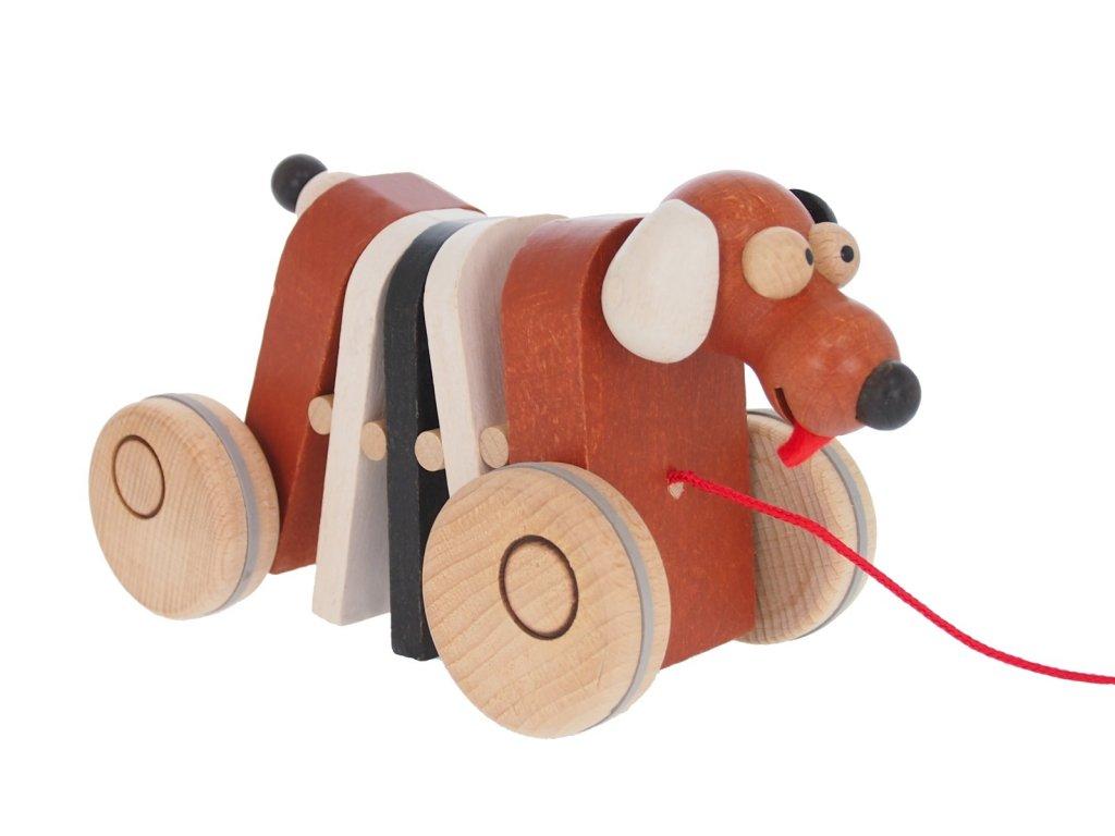 68101 tahačka pejsek dřevěný na hraní pro děti