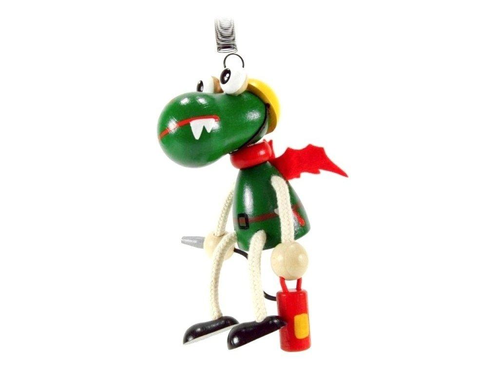 50226 (1) figurka na pruzine ze dreva hasic dracek pro deti