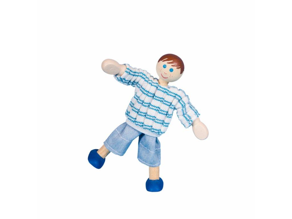 NEPOSEDNÝ KLUK - dřevěný ohebný panáček - Česká hračka certifikovaná pro děti od 3 let.