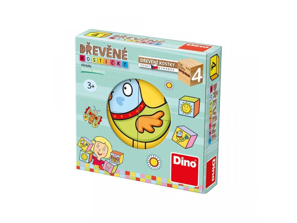 PRO NEJMENŠÍ DĚTIČKY - dřevěné kostky 4 díly. Geniální, jednoduchá, nadčasová, prostě všemi dětmi milovaná česká hračka.