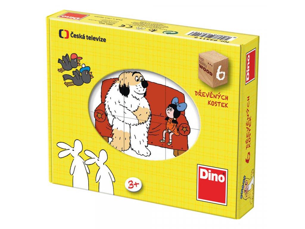 POHÁDKY - dřevěné kostky 12 dílů. Geniální, jednoduchá, nadčasová, prostě všemi dětmi milovaná česká hračka.