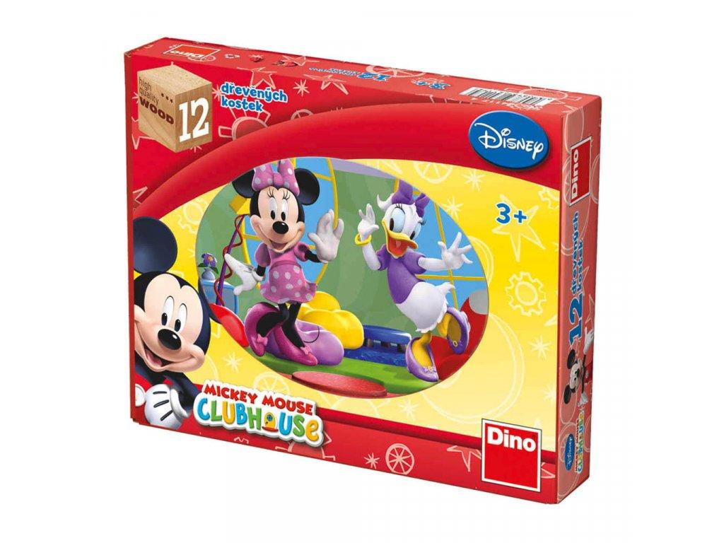 MICKEY MOUSE - dřevěné kostky 12 dílů. Geniální, jednoduchá, nadčasová, prostě všemi dětmi milovaná česká hračka.