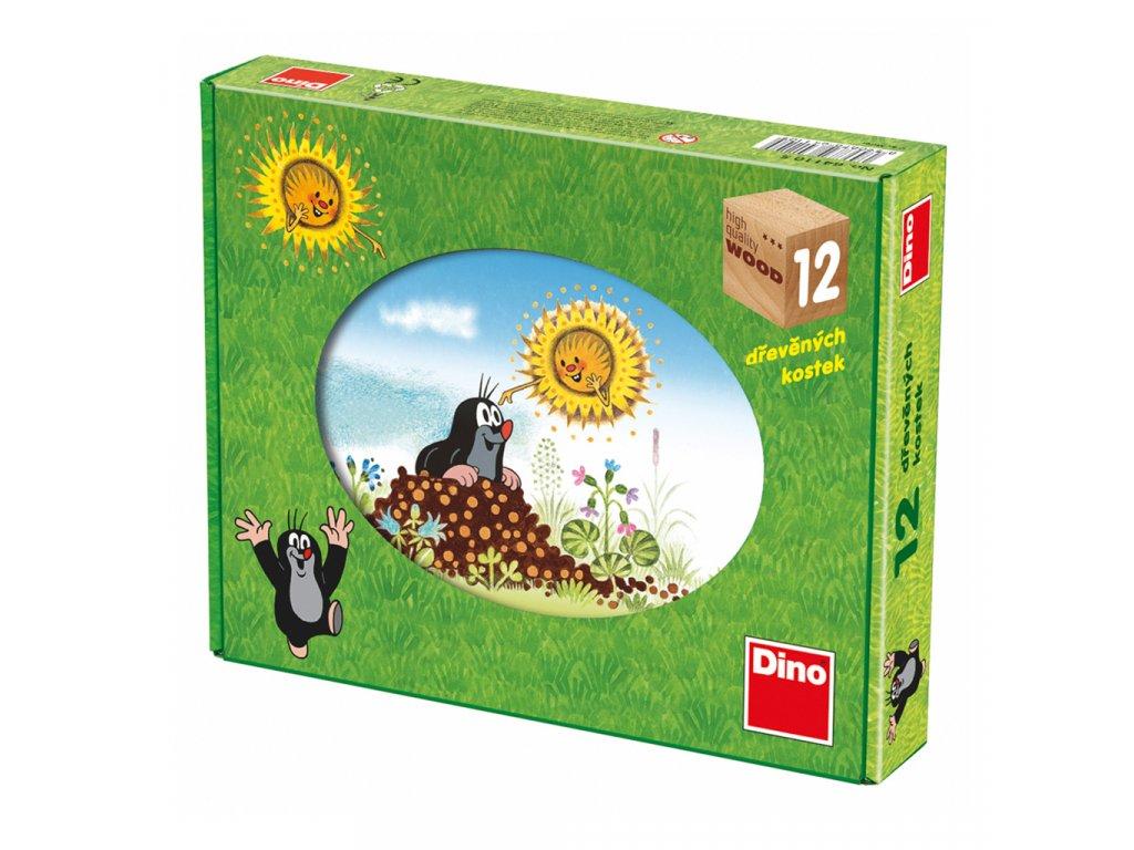 KRTKUV ROK - dřevěné kostky 12 dílů. Geniální, jednoduchá, nadčasová, prostě všemi dětmi milovaná česká hračka.