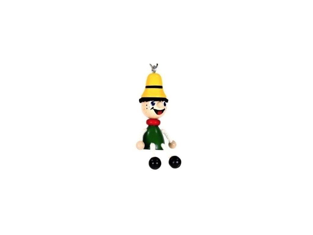 Figurka přívěšek ze dřeva - Pinochio