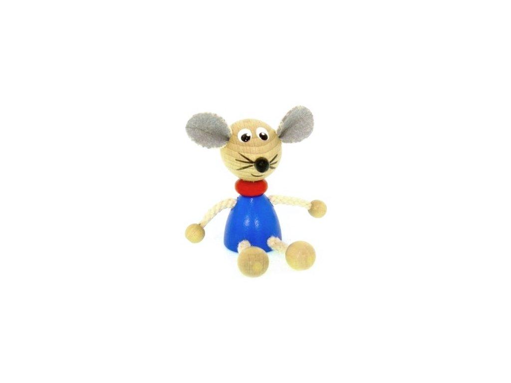 Figurka magnetka ze dřeva - Myš