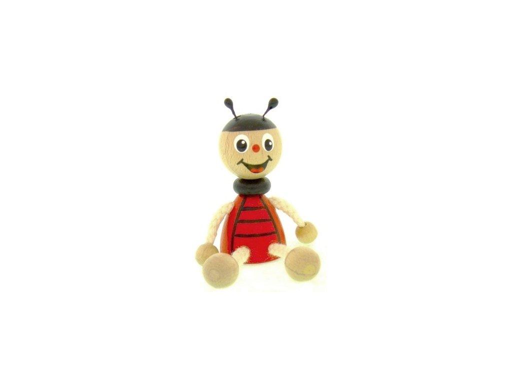 Figurka magnetka ze dřeva - Beruška