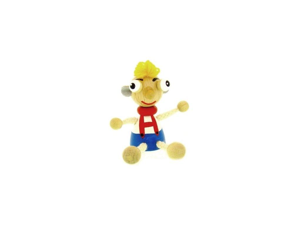 Figurka magnetka ze dřevaa - Hurvínek