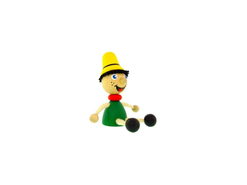 Figurka magnetka ze dřeva - Pinochio
