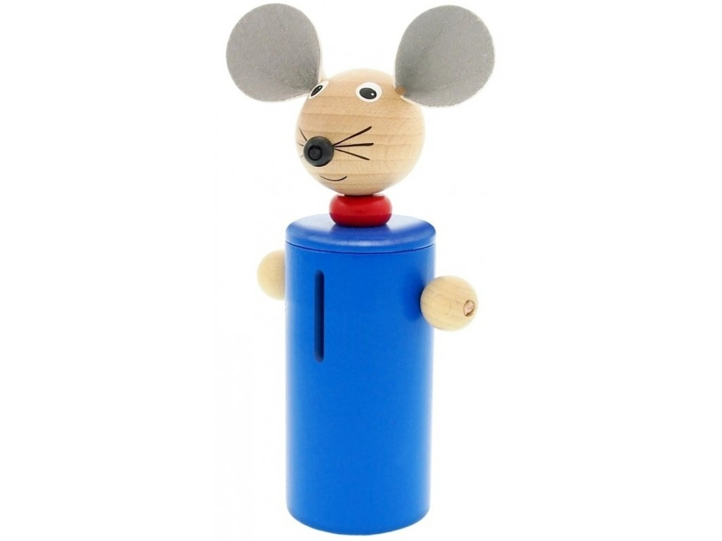 Kasička hračka ze dřeva Myš Emma