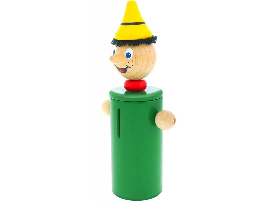 Kasička hračka ze dřeva Pinochio