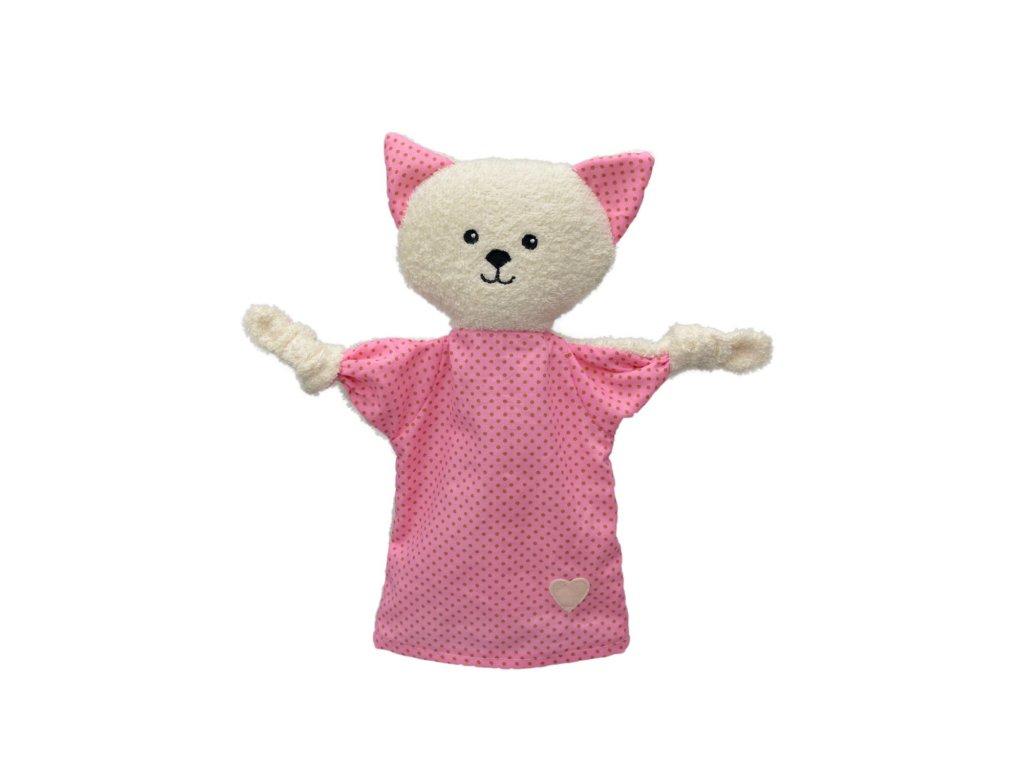 Mazlící Kočička - maňásek pro nejmenší děti