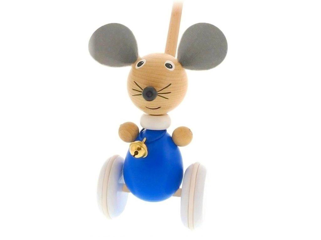 Strkadlo Myš hračka ze dřeva Anna