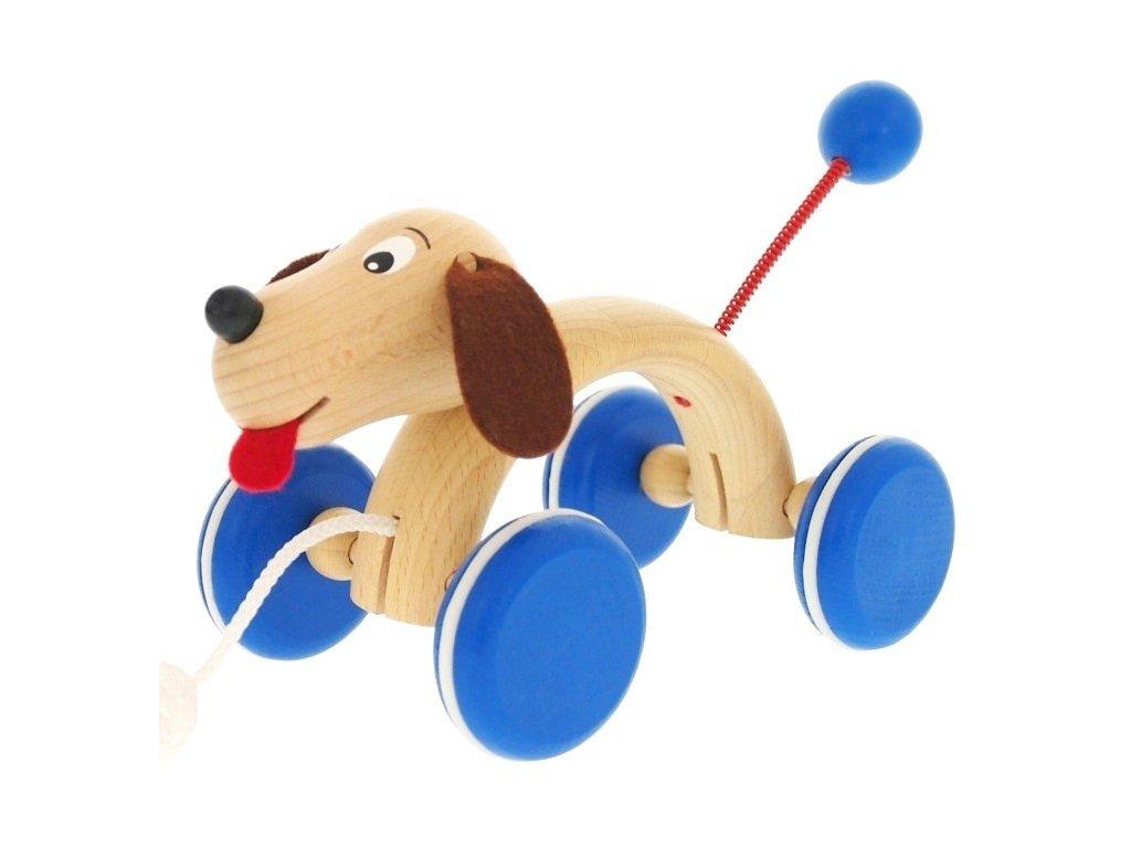 Tahací hračka ze dřeva Pes (oblouk) Max