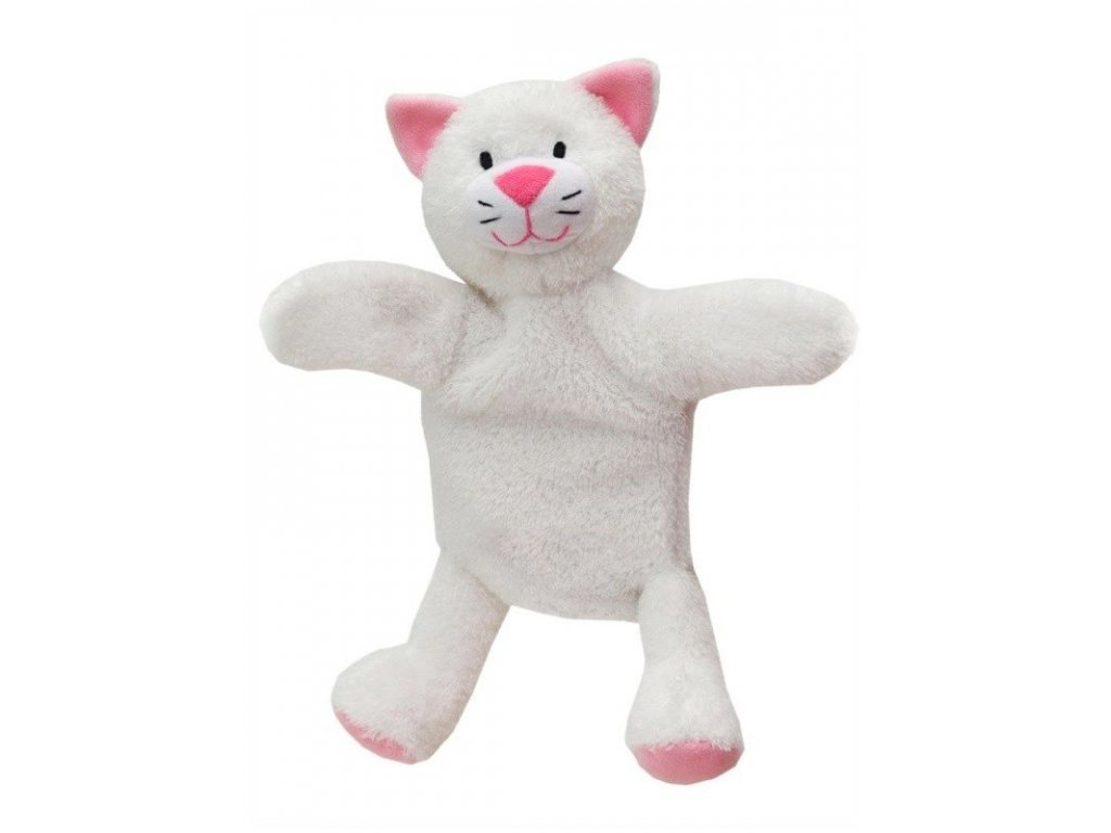 Maňásek s nohama - Kočička - hračka z textilu