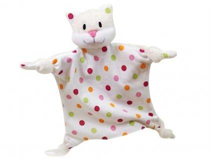 Maňásek - Kočička uzlík - hračka z textilu