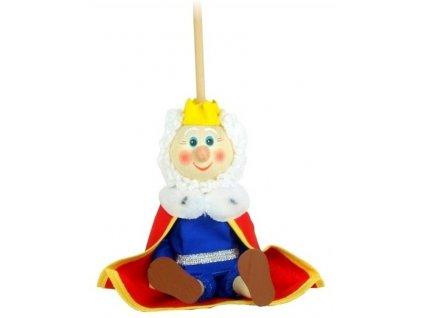 Loutka na tyči hračka ze dřeva - Král