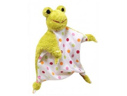 Maňásek - Žabka uzlík - hračka z textilu